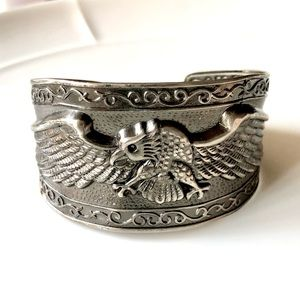 Vintage Eagle Gunmetal Cuff